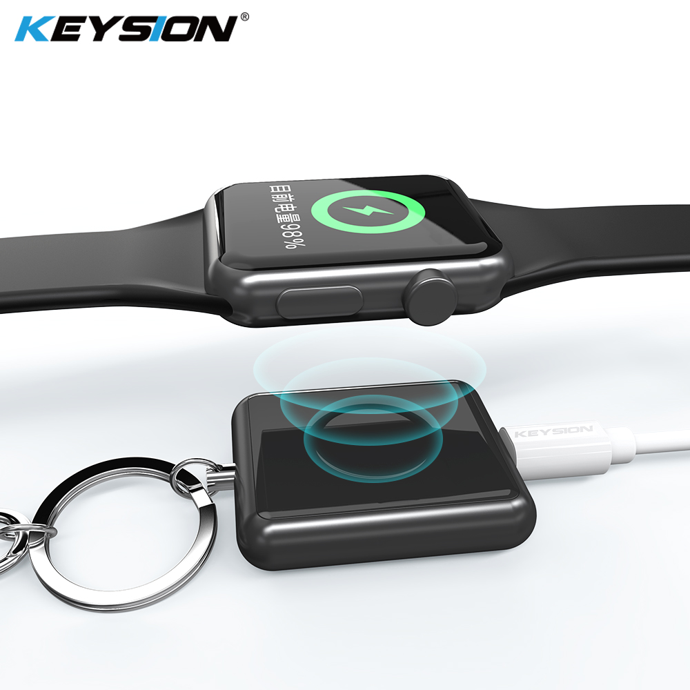 KEYSION Magnetic Wireless Charger for Apple Watch Series 4 3 2 1 Metal + Tempered Glass Wireless Charging for Apple Watch 4 3 2(China)