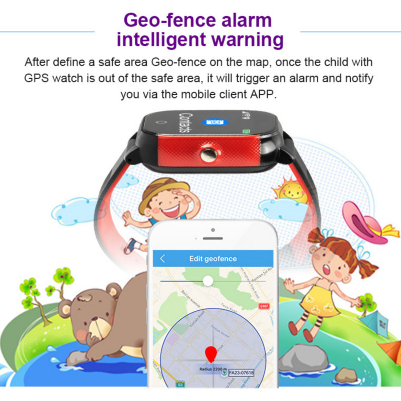 Image 5 - FA23 Smart Baby Watch IP67 Waterproof Children SIM Card Touch Screen GPS WIFI SOS Tracker Kids Alarm Clock Anti Lost Smartwatch-in Smart Watches from Consumer Electronics