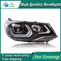 Car Styling Head Lamp case for VW Touareg Headlights LED Headlight DRL Lens Double Beam Bi-Xenon HID car Accessories