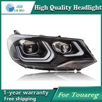 Car Styling Head Lamp Case For VW Touareg Headlights LED Headlight DRL Lens Double Beam Bi