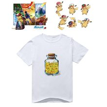 Pokemon Pikachu Anime impreso mangas cortas camisetas divertidas camisetas Casuales(China)