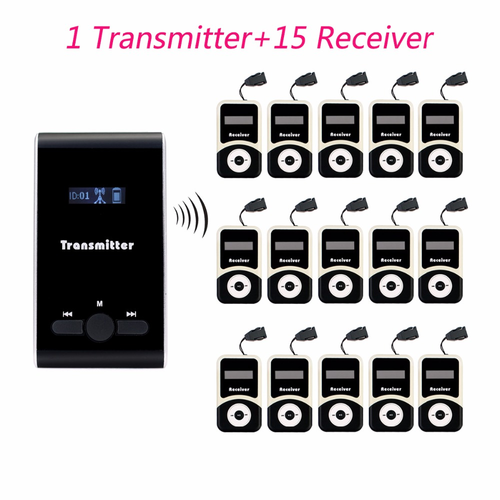 ANDERS Wireless Tour Guide System 1 Transmitter+15 Receiver for Tour Guiding Simultaneous Translation Interpretation System anders wireless tour guide system 1 transmitter 2 receiver for tour guiding simultaneous translation interpretation system f4506