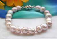 FREE SHIPPING>>>@@ > 09737 lavender double freshwater pearl bracelet