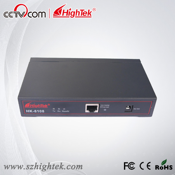 HighTek HK-8108A Industrial 8 ports RS232 to Ethernet Converter/Ethernet to Serial Device Server hightek hk 8116b industrial 16 ports rs485 422 to ethernet converter ethernet to serial device server