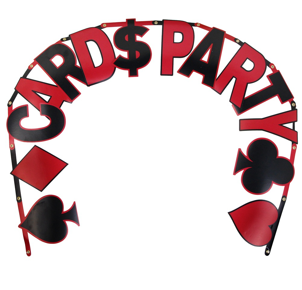 card party casino banner las vegas themed party night card dangling cutouts playing card - Casino Decorations
