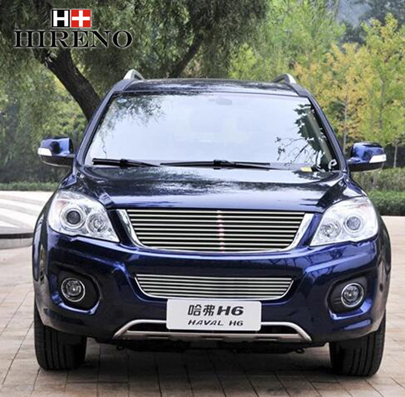 Stainless Steel Car Racing Grills For Great Wall Haval H6 2011-2012 Front Grill Grille Cover Trim Car styling