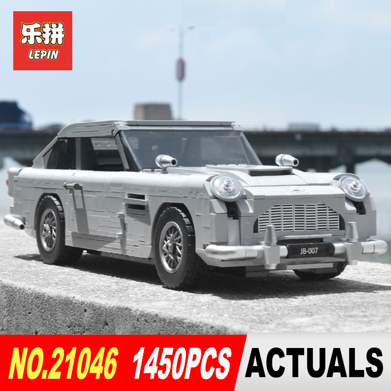 Lepin 21046 1450 piezas creador experto Aston Martin DB5 Building Blocks ladrillos Compatible Legoing 10262 niños montado DIY Juguetes