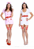 plus size sexy teddy nurse costume with leg belt SM Cosplay sexy costumes erotic dress adult sexy lingerie