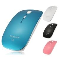 Przenośny Milczy Myszy Bluetooth 3.0 Mini Bezprzewodowa Mysz Optyczna Gra Kliknij Gaming Mouse 1600 DPI Myszy PC Laptop Mac Tablet