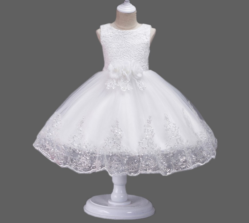 Classic Style   Flower     Girl     Dress  ~Lovely   Girl   Flowes Decorated Big Bowknot on the back Ball Gown Formal   Dress   105