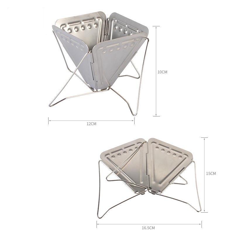 Image 3 - VILEAD Coffee Maker Rack Filter Holder Stainless Steel Camping Portable Funnel Folding Outdoor Cookware Picnic Coffee Maker-in Outdoor Tablewares from Sports & Entertainment