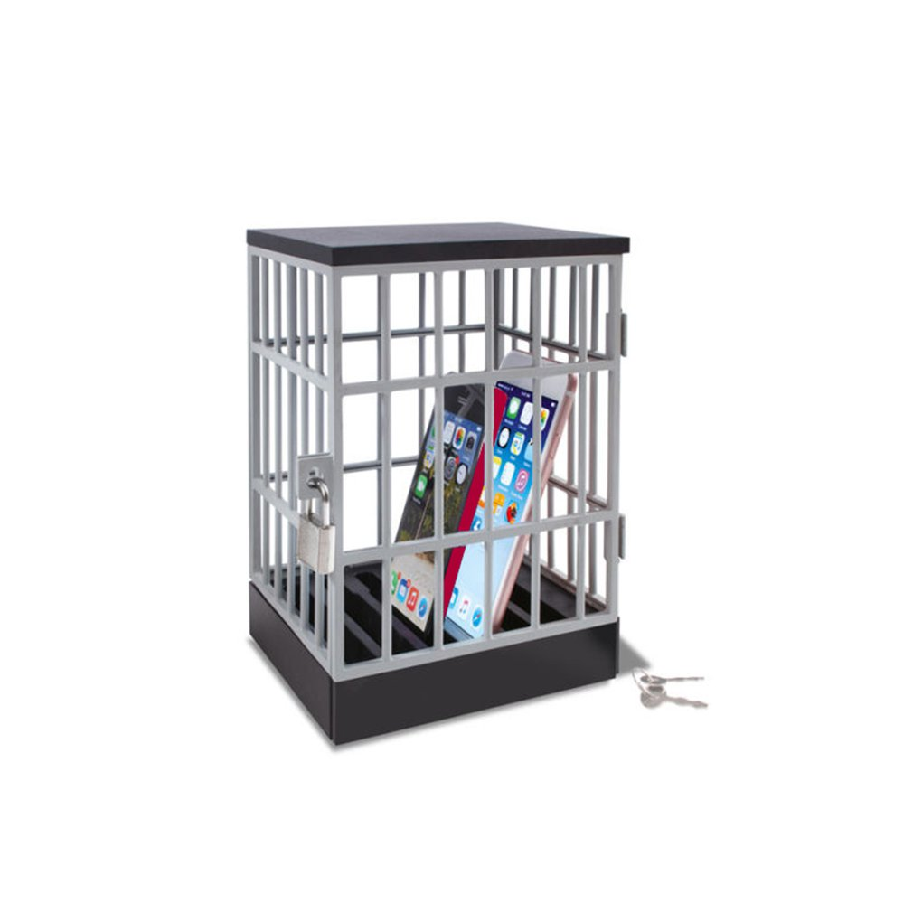 Mobile Prison Cell Lock Security Smartphone Cage Storage Cage Tricky Toy Novelty Toy Office Gadget