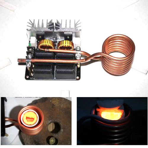 1000W ZVS Low Voltage Induction Heating Board Module/Tesla Voil + coil 12v-48V1000W ZVS Low Voltage Induction Heating Board Module/Tesla Voil + coil 12v-48V
