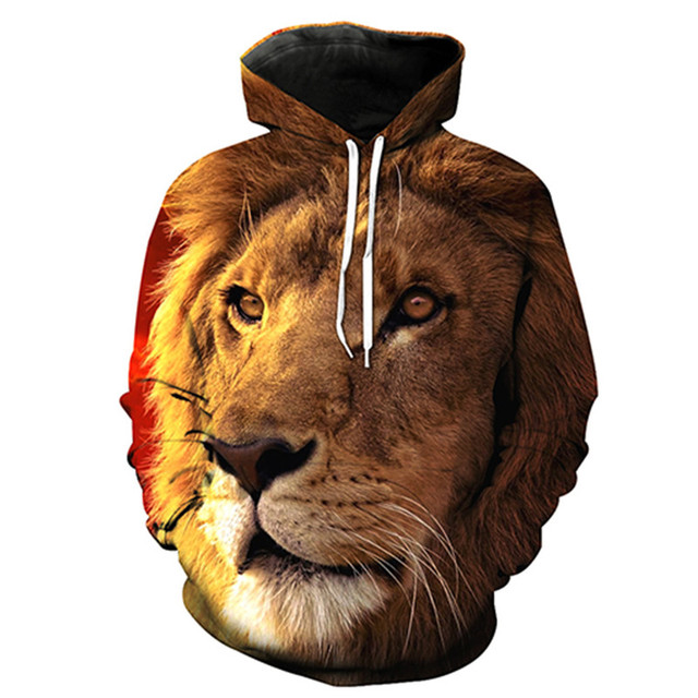 Animals Print Fashion Brand lion Hoodie Hoodies Men Women New Fashion  Spring Autumn Sweatshirts Sweat Homme 3D Tracksuit ba57268cf8f