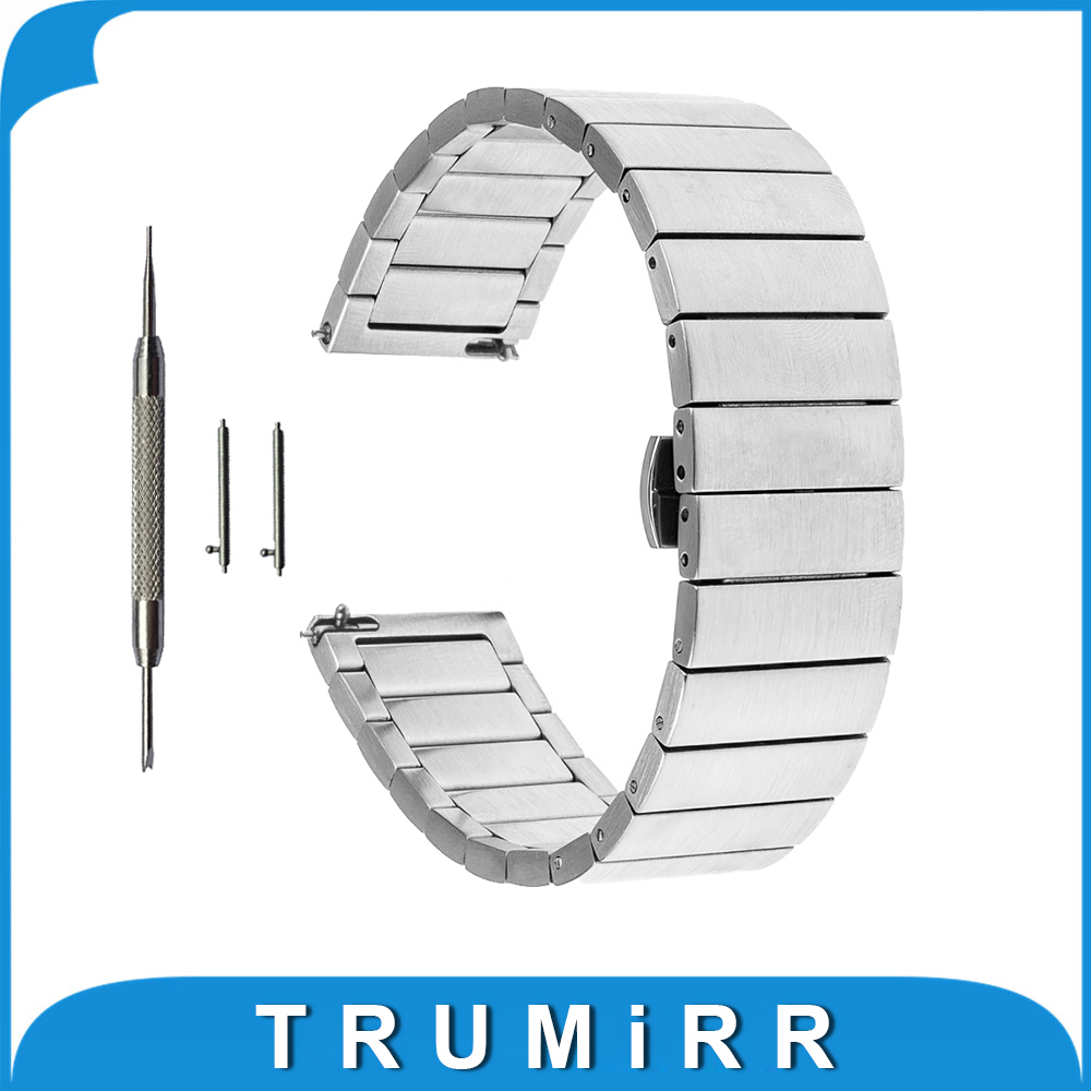 18mm 20mm Quick Release Strap for Rolex 36mm 40mm Wrist Watch Band Stainless Steel Butterfly Buckle Link Bracelet ceramic stainless steel watch band 20mm for samsung gear s2 classic r732 r735 quick release strap butterfly buckle bracelet