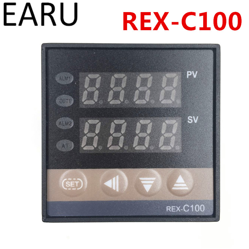 New REX-C100 Digital PID Temperature Control Controller Thermostat Thermometer SSR Solid ...