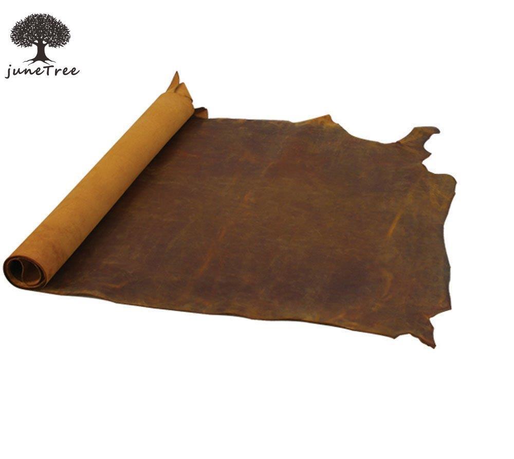 Страсть junetree натуральной кожи коровы коричневый толстый Натуральная кожа около 2.0 мм коровьей старинные (около 50 х 22 см)
