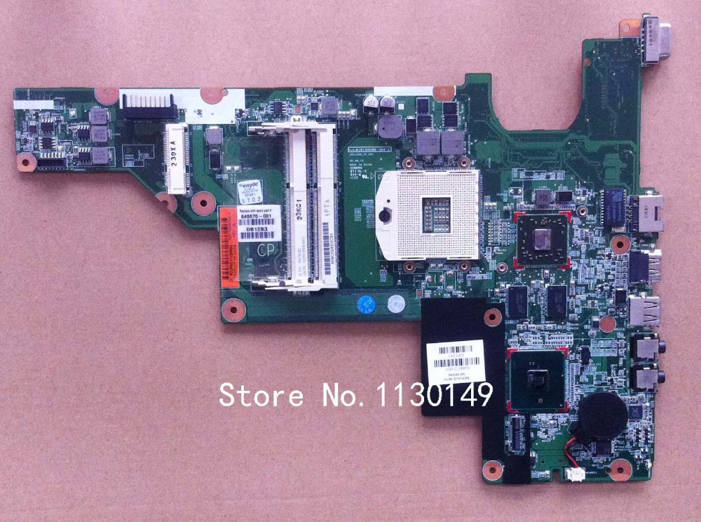 ФОТО free shipping 646670-001 for HP 430 CQ431 631 630 laptop motherboard with for Intel hm55 chipset 512MB dsc video memory