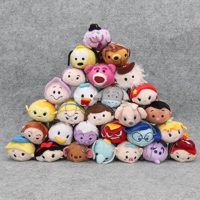 7-9 centímetros Mini princesa A Pequena Sereia princesa dentro para fora chaveiro de pelúcia pingente brinquedos de pelúcia Animais