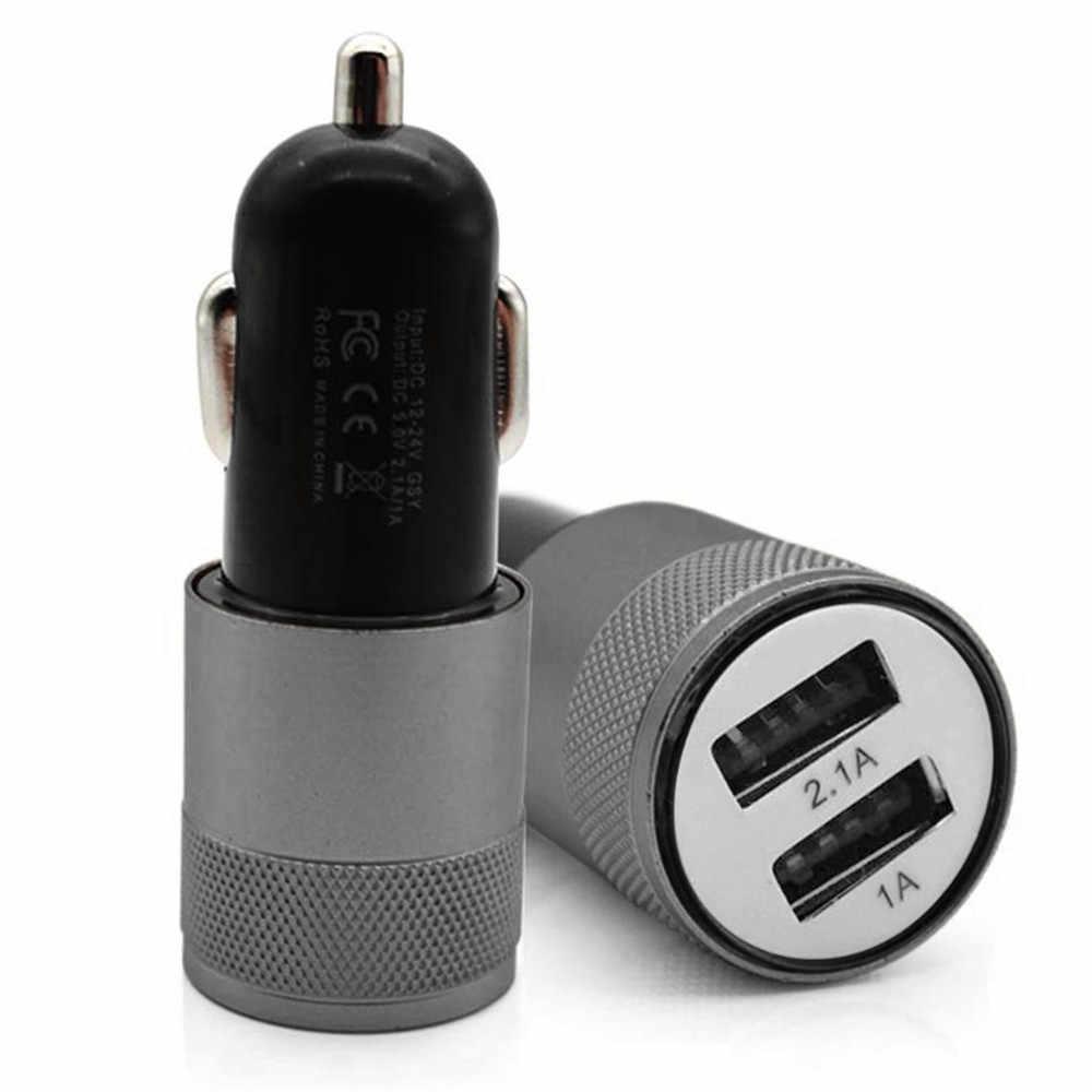 Dual USB Car Charger Fast ชาร์จโทรศัพท์มือถือ Dual USB QC 3.0 Car Charger Samsung Millet แท็บเล็ต