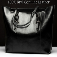 GESUNRY Fashion Women Real Genuine Leather Causual Women Handbag Large Shoulder Bags Elegant Ladies Tote Sacthel