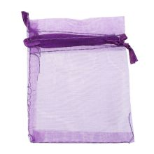 купить 10 pack Beautiful Dark Purple Organza Gift and Favour Bags 7cm x 9cm дешево