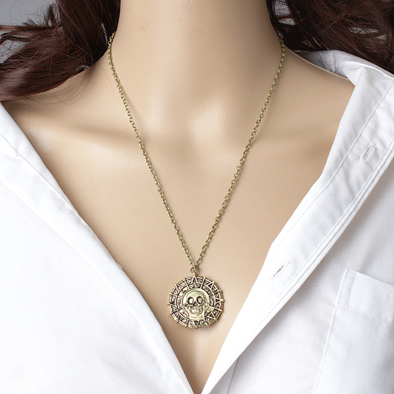 HTB1jQntaeUXBuNjt XBq6xeDXXaw - New Vintage Necklace Pirates of the Caribbean Aztec Gold Coin Necklace