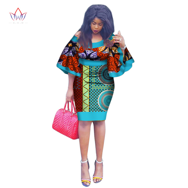 2018 New African Party Dress Summer Brazil Maxi Plus Size O Neck