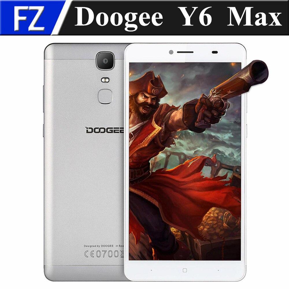 "Цена за Оригинал Doogee Y6 МАКС 6.5 ""FHD MTK6750 окта основные Android 6.0 4 Г LTE смартфон 13MP 3 ГБ RAM 32 ГБ ROM dual sim отпечатков пальцев"