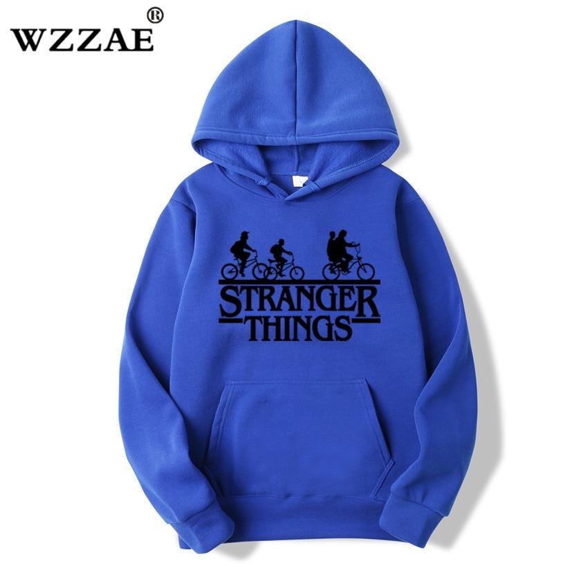 Trendy Faces Stranger Things Hooded Hoodies and Sweatshirts 50