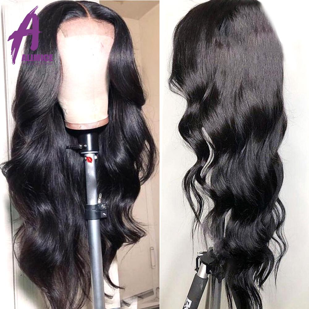 Lace Front Human Hair Wigs Pre Plucked 130 150 Density Indian Body Wave Wigs For Women
