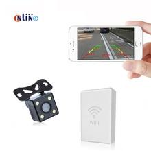 Беспроводной заднего вида Камера Водонепроницаемый Full HD CCD автомобилей, Wi-Fi сзади Камера 4LED Ночное видение автомобиля Парковочные системы универсальный Камера