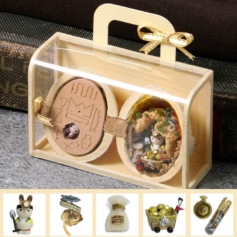 Doll House Furniture DIY Miniature 3D Wooden Miniaturas Dollhouse Box Theatre Toy For Children Birthday Gifts Seed World R-004 image