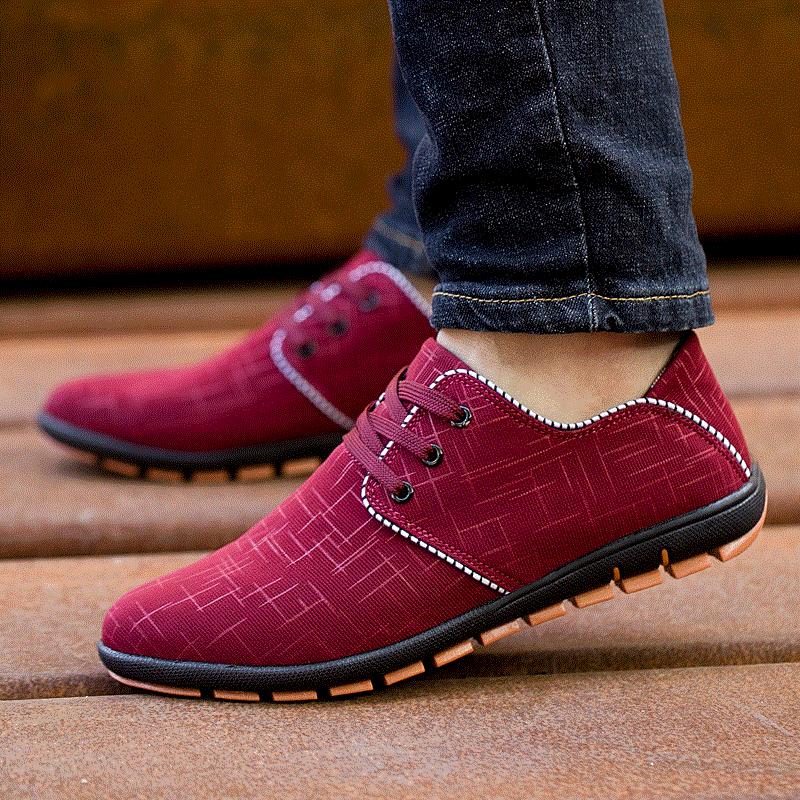 28 Casual Nouvelle 65 Plus Hombre Black Siz Appartements Hommes été Bas red Chaussures Printemps Toile Lacets Respirant blue Zapatillas Belle DH29IWbYEe