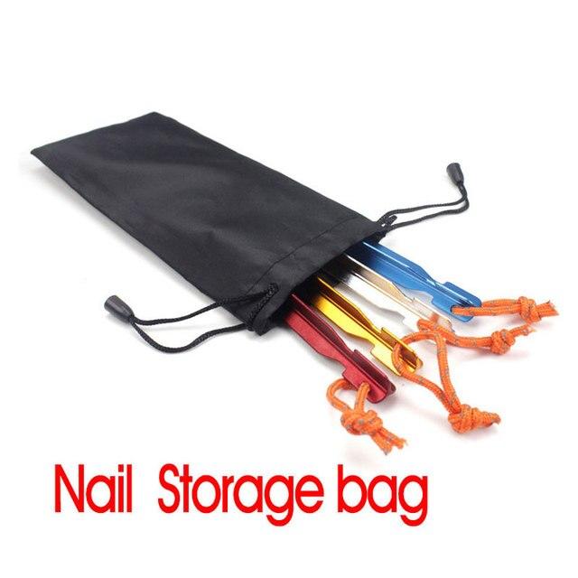 Aluminum nail storage bag outdoor nail storage package tents nail ...