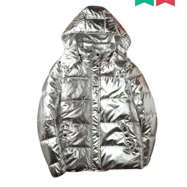Best Offers new Silver Bright man Jacket Couple jacket Winter Warm Down Cotton Padded Short Parkas Fashion Men's Bomber Hooded Outwear