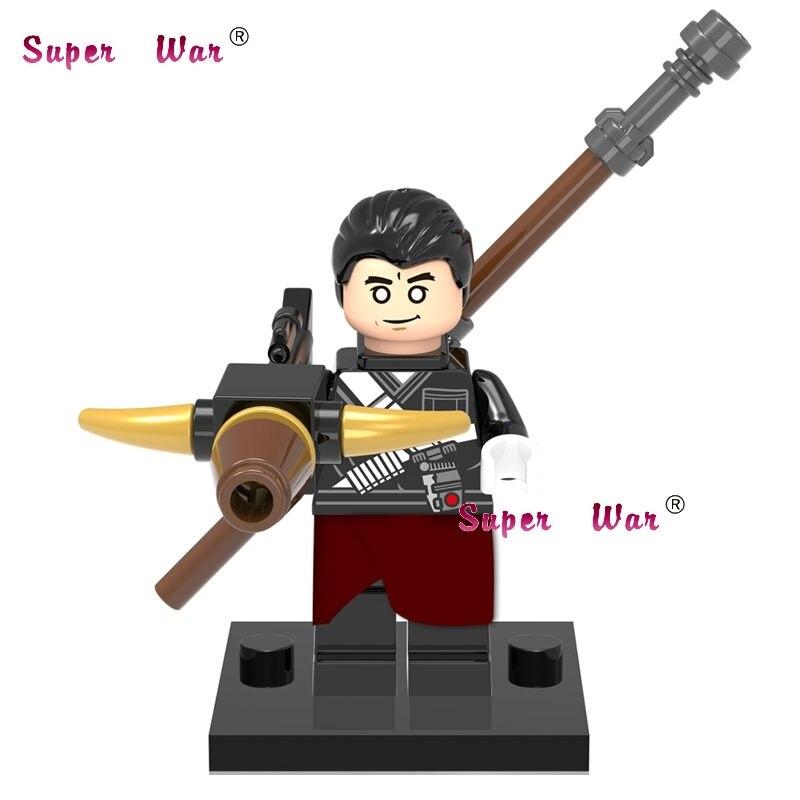 1PCS star wars superhero marvel Rogue One Chirrut Imwe building blocks action sets model bricks toys for children