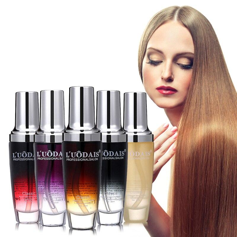 LUODAIS cuidado del cabello aceite de Argan aceites de Perfume Aceite de Macadamia para el cabello dañado hidratante para el cabello alisado de queratina
