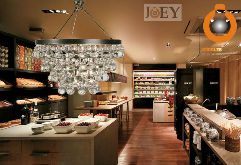 Modern Gourd Crystal chandelier lights lamps For dining kitchen Luxury Hotel Foyer lighting Robert Abbey Chandeliers JD9072
