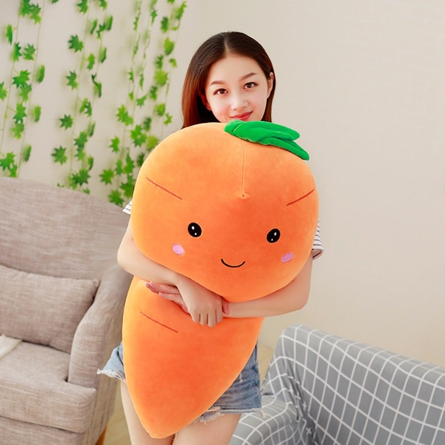 1pc 95cm Cretive Simulation Stuffed Carrot With Down Cotton Big Size High Quality Super Soft Pillow Intimate Gift For Girl