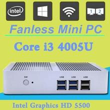 Бесплатная Доставка Intel Core i3 4005U HD 5500 Graphics Micro PC 4 К HTPC wifi HDMI VGA Игровой Компьютер 300 М WIFI Mini PC Windows 10