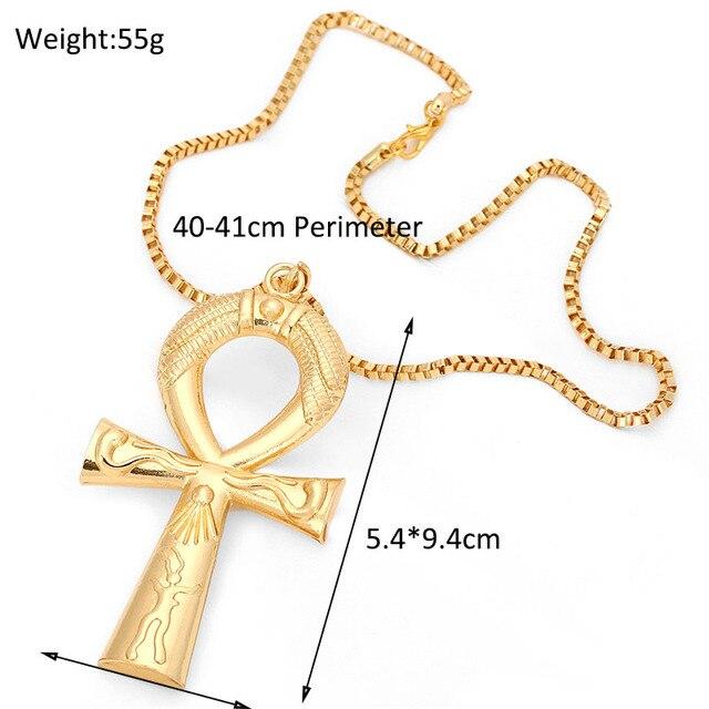 Фото египетский анкх ожерелье с крестом ювелирные изделия золотистого