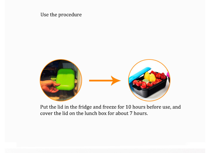Free Shipping Fresh Cold Box 7 Hours Microwave Heat Sealed Silicone Mobile Mini Refrigeration Refrigerator -40-120℃
