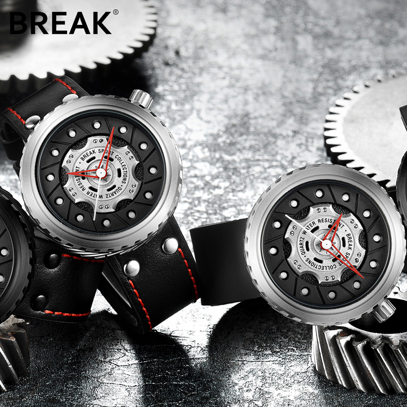 BREAK Luxury Brand Men Crazy Speed Sports Watches Man Rubber Strap Casual Fashion Geek Creative Gift Analog Quartz Wristwatch 3