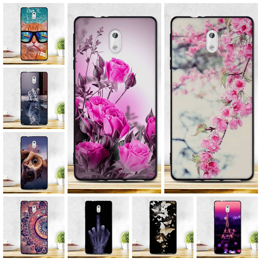 Case For <font><b>Nokia</b></font> 3 Cover 5.0inch Soft Silicone Printing Pattern Shell For Nokia3 TA1020 TA1028 <font><b>TA1032</b></font> TA1038 Case TPU Phone Bags image