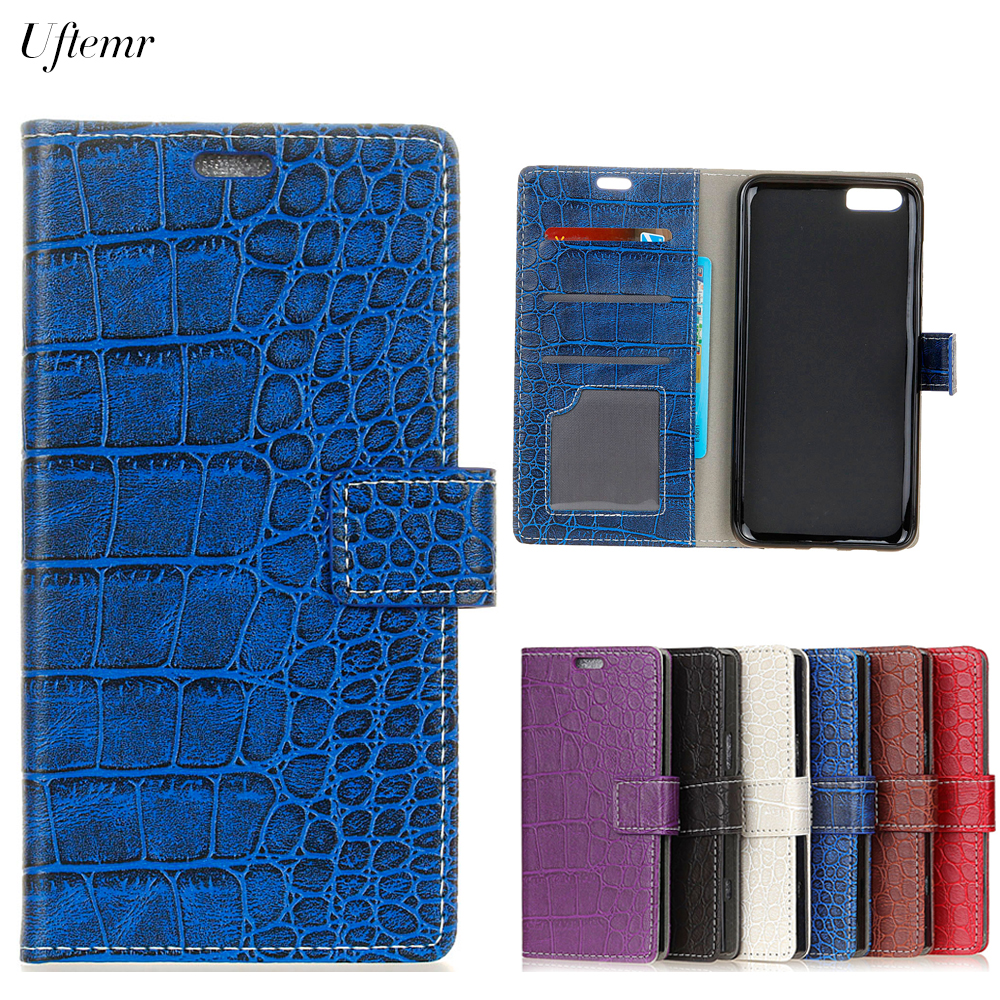 Uftemr Vintage Crocodile PU Leather Cover For OnePlus 5 Protective Silicone Case For One Plus 5 Wallet Card Slot Phone Acessorie