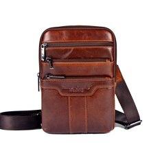 Leder kleine messenger bags für männer crossbody umhängetasche männlichen rindleder handtaschen casual business reisetaschen