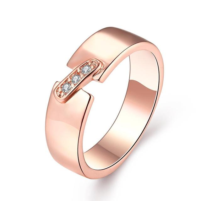 New Yellow Gold / Rose Gold / White Color Rings Women AAA Cubic Zircon Rings Fashion Jewelry For Women Dress Accessories