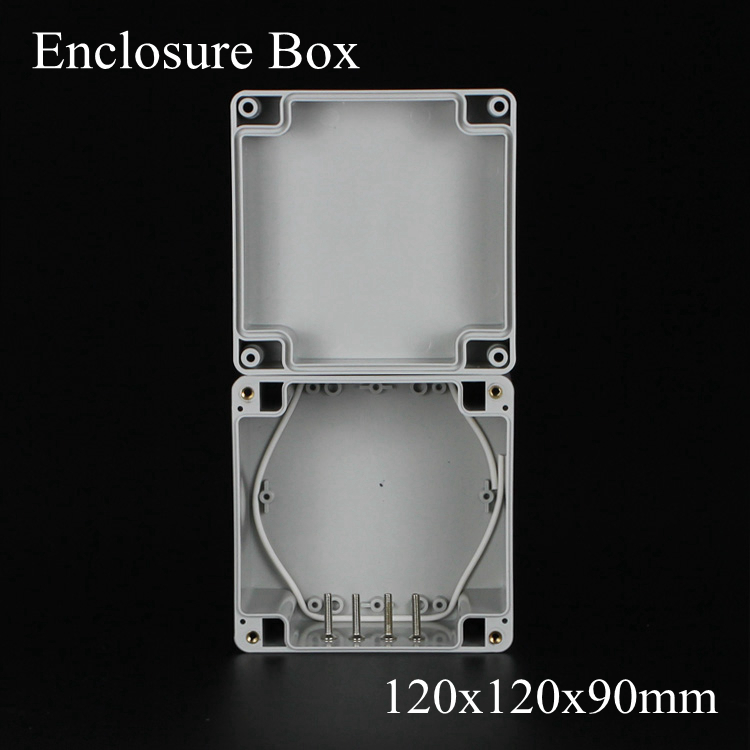 (1 piece/lot) 120*120*90mm Grey ABS Plastic IP65 Waterproof Enclosure PVC Junction Box Electronic Project Instrument Case waterproof abs plastic electronic box white case 6 size