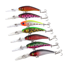 Minnow fishing lures ABS bait swimbait fishhook tackle striking 10cm 8g crankbait hard equipment outdoor